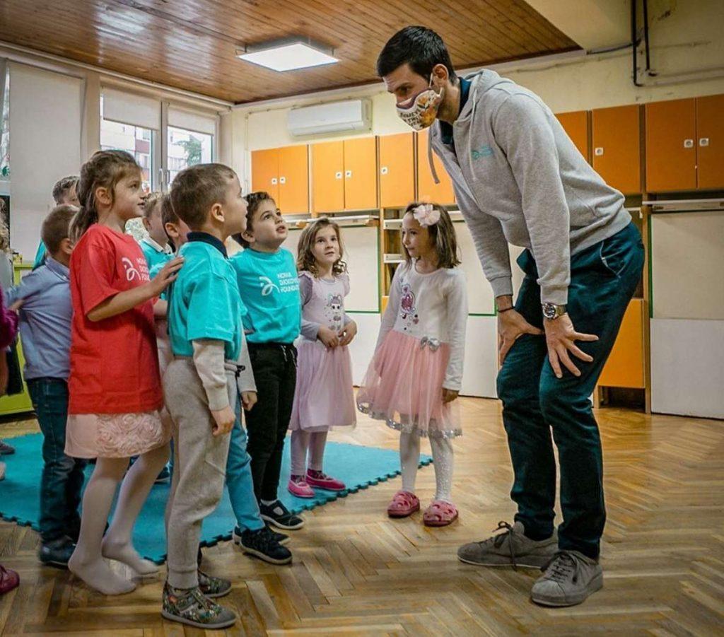 Instagram, charita awebstránka Novaka Djokovica